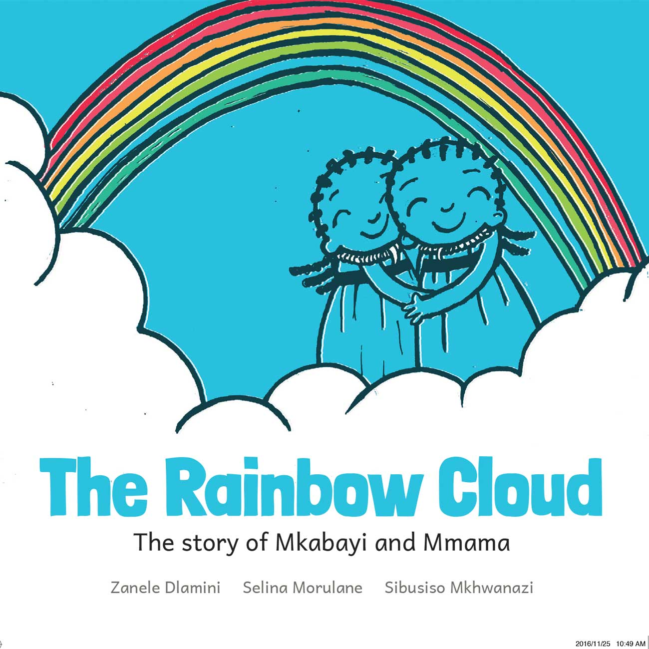 The Rainbow Cloud free childrens picture book cover