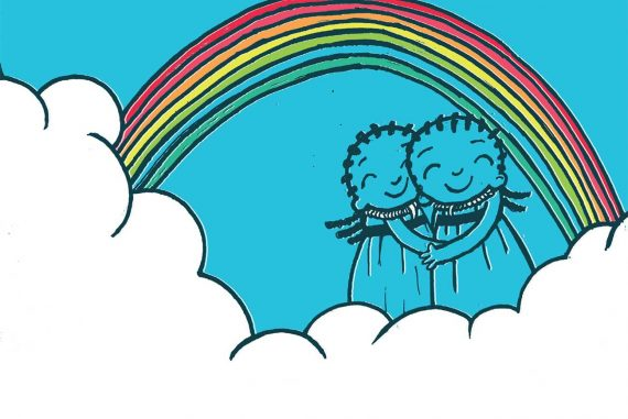 The Rainbow Cloud free childrens picture book header illustration