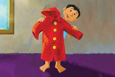 The Red Raincoat Free Kids Bedtime Story header illustration