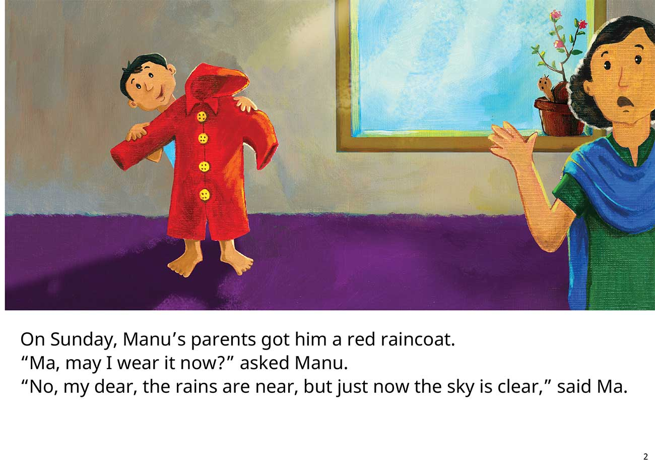The Red Raincoat Free Kids Bedtime Story page 2