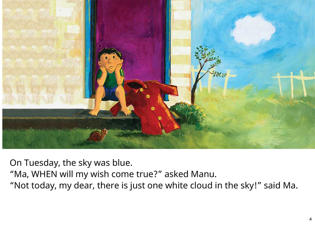 The Red Raincoat Free Kids Bedtime Story page 4