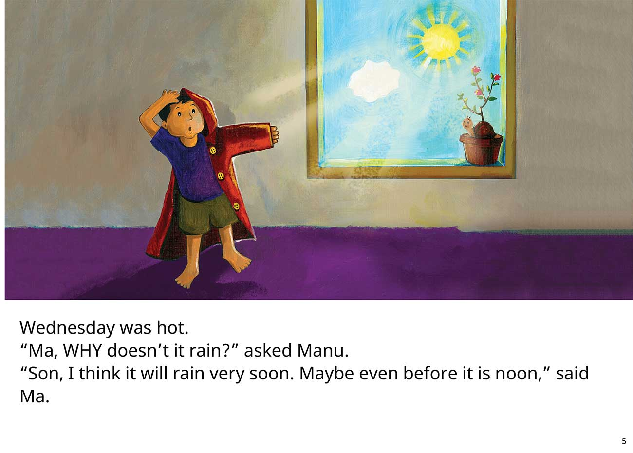 The Red Raincoat Free Kids Bedtime Story page 5