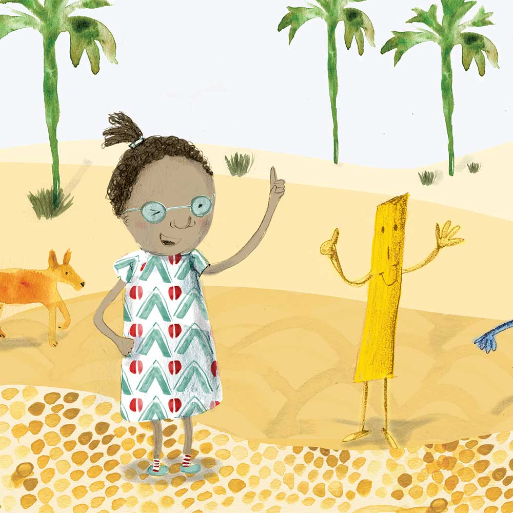 Zanele Sees Numbers short stories for kids page 24