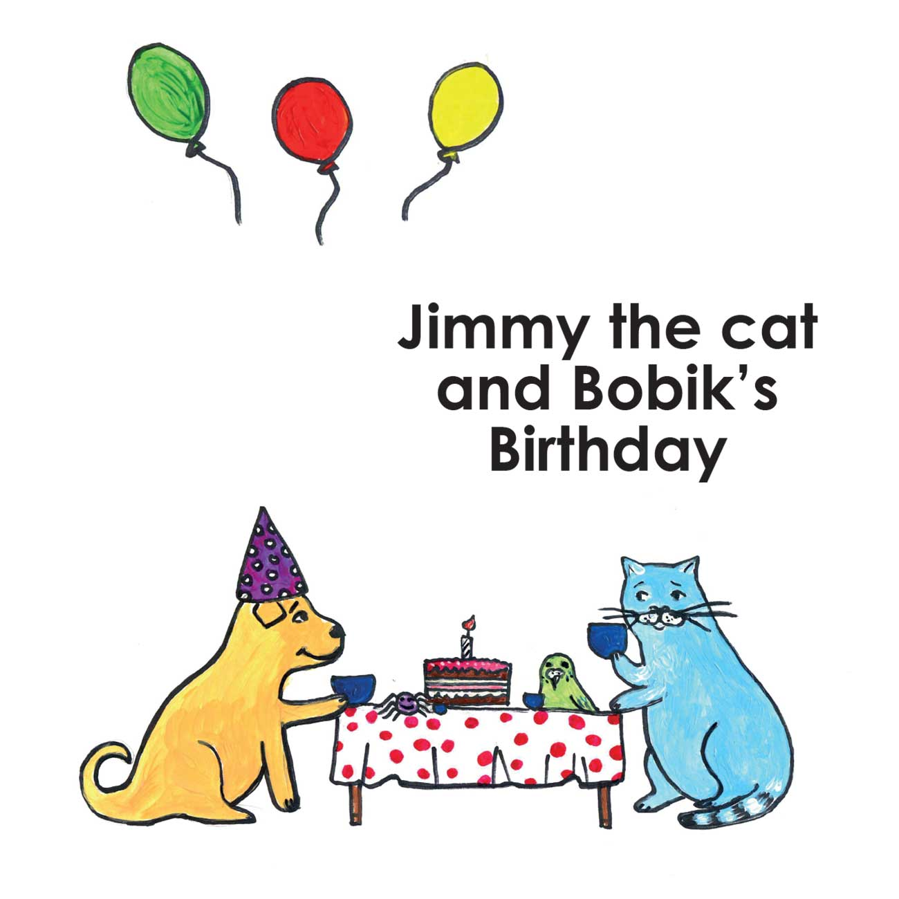 Children's early reader free kids stories Jimmy the Cat and Bobiks Birthday 1