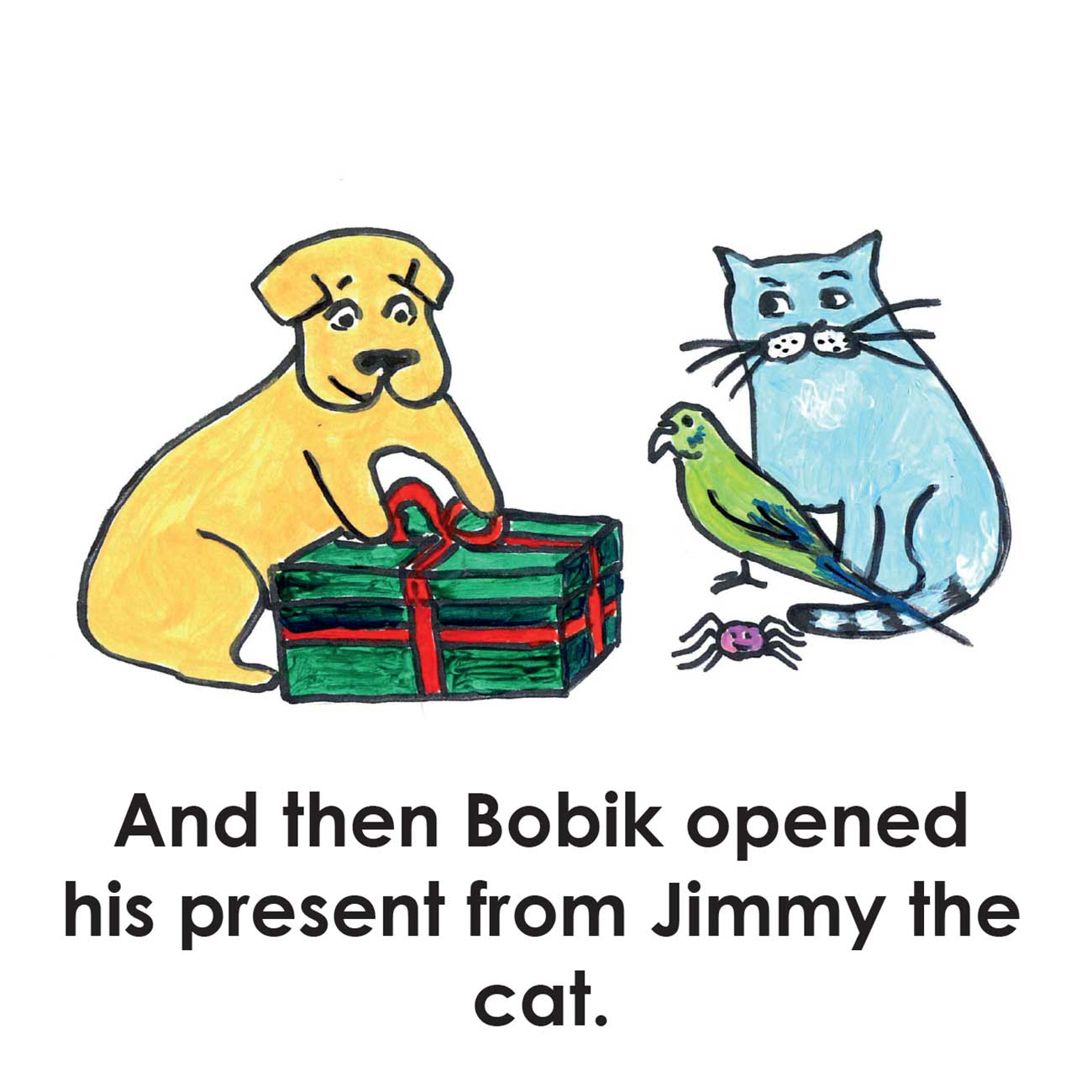 Children's early reader free kids stories Jimmy the Cat and Bobiks Birthday 18