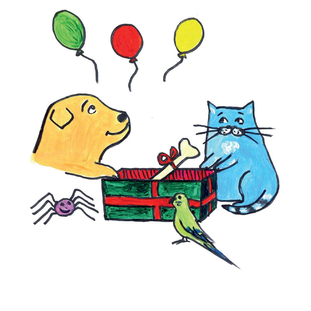 Children's early reader free kids stories Jimmy the Cat and Bobiks Birthday 20