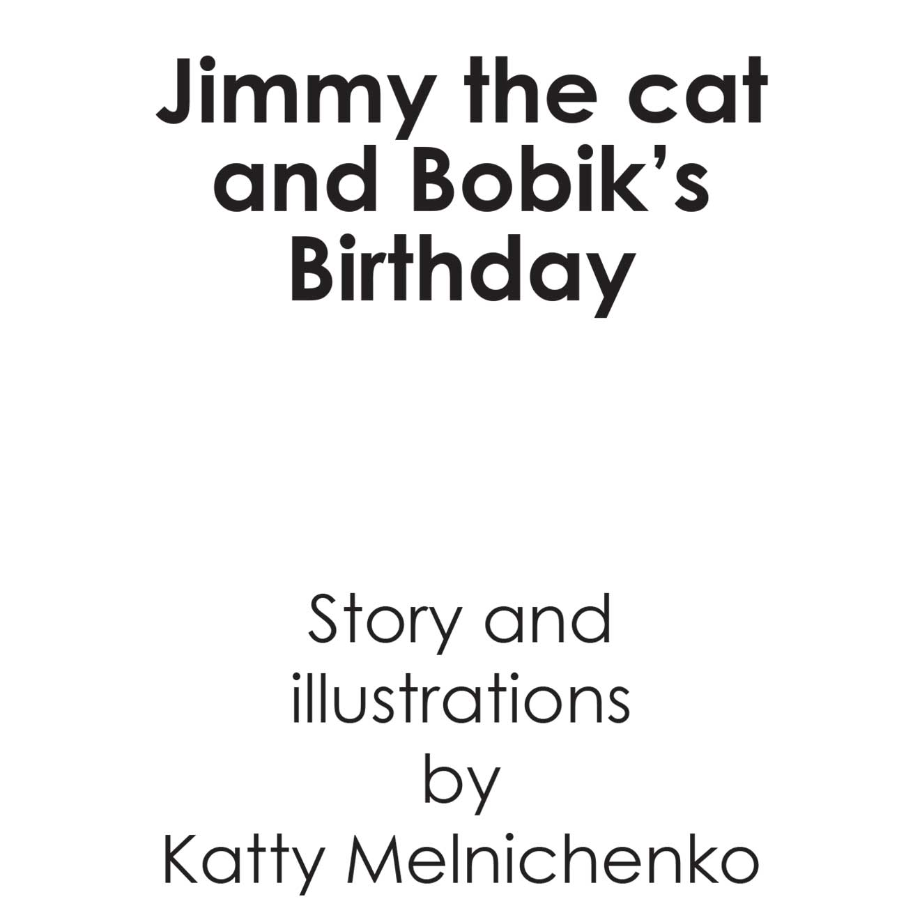 Children's early reader free kids stories Jimmy the Cat and Bobiks Birthday 3