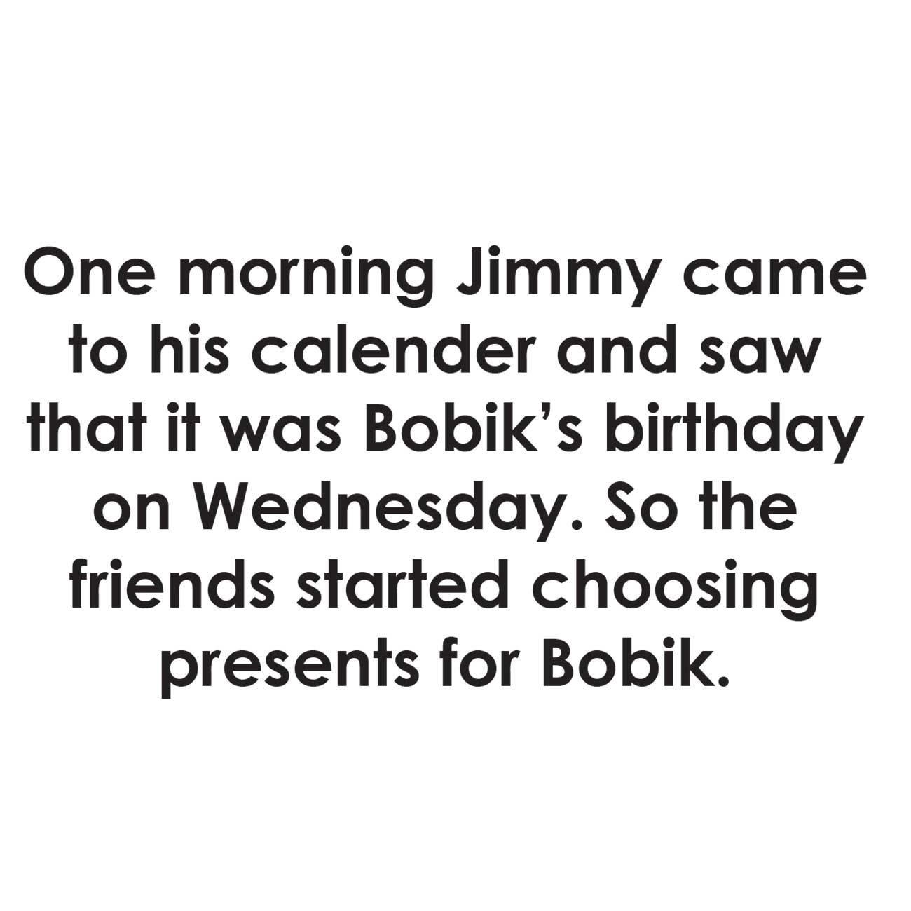 Children's early reader free kids stories Jimmy the Cat and Bobiks Birthday 8
