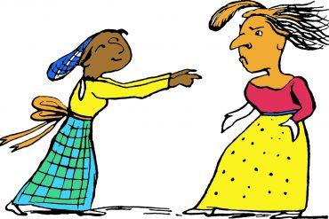 Edward Lear illustration for Mrs Snipkin and Mrs Wobblechin kids poem