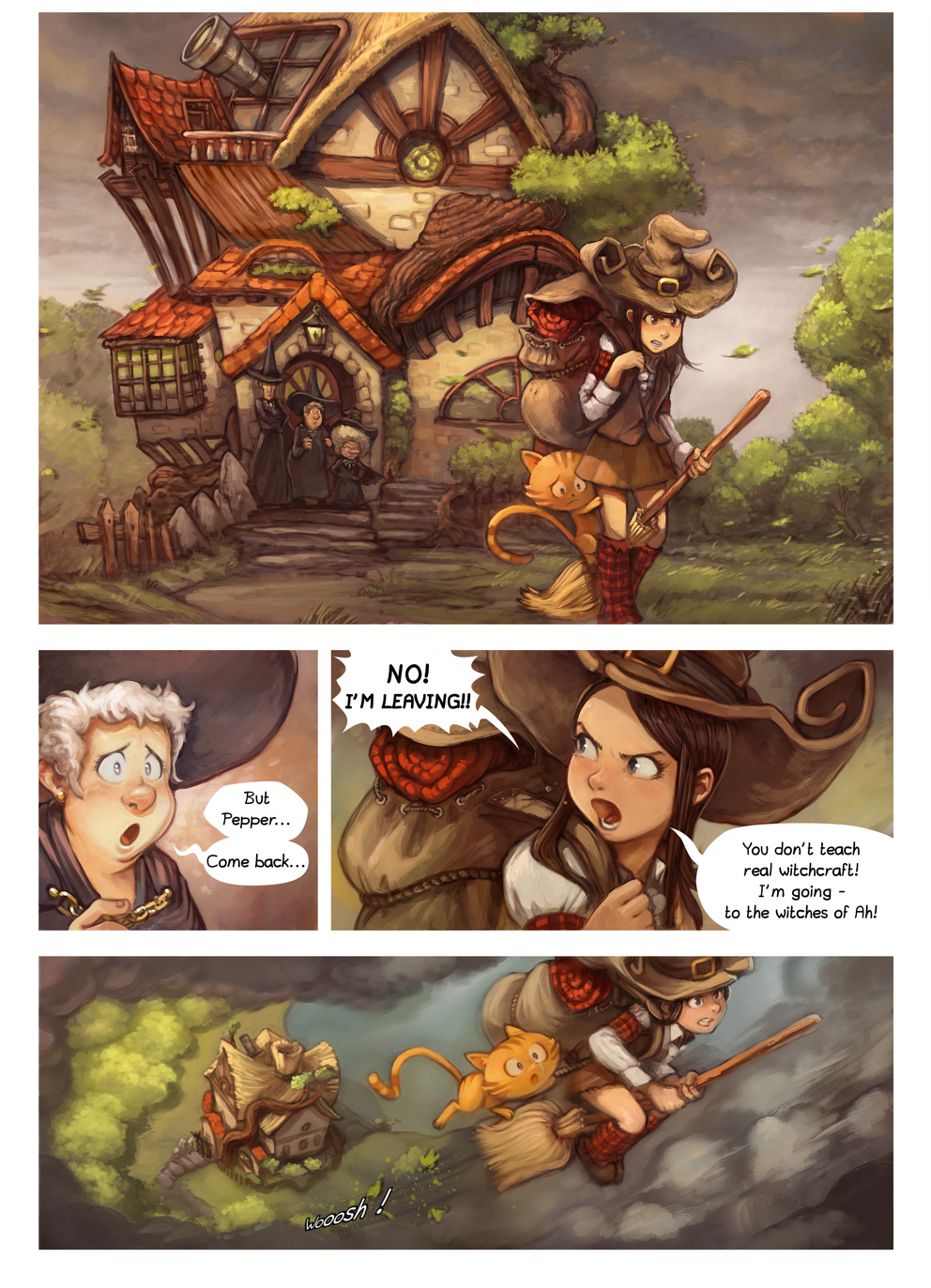 Free online comics Pepper and Carrot episode 17 page 1