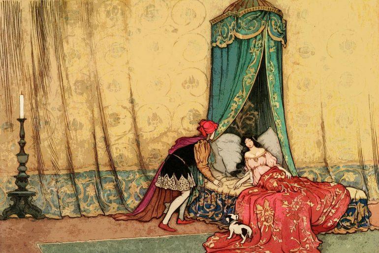 Illustration for Grimm Bros fairytale Briar Rose