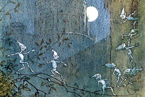Illustration for Grimm Brothers fairytale Elves and the Shoemaker