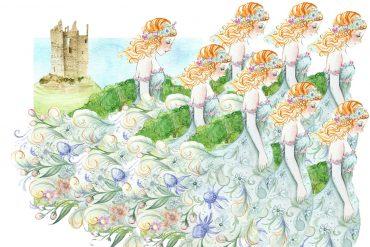 Illustration for Grimm Brothers fairytale Twelve Dancing Princesses