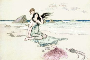 Illustration for Hans Christian Andersen's fairytale The Little Mermaid