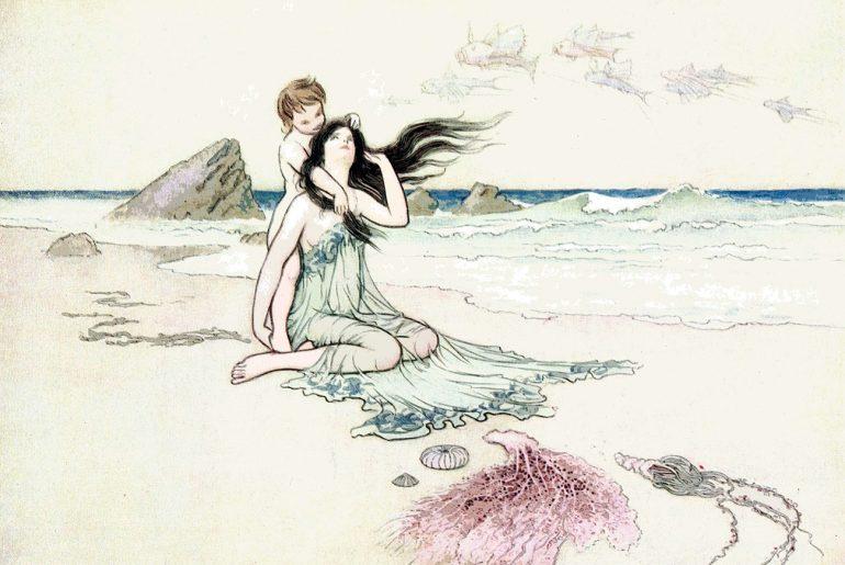 Illustration for Hans Christian Andersen's fairytale The Little Mermaid