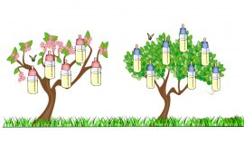 Illustration for kids poem The Bottle Tree by Eugene Field