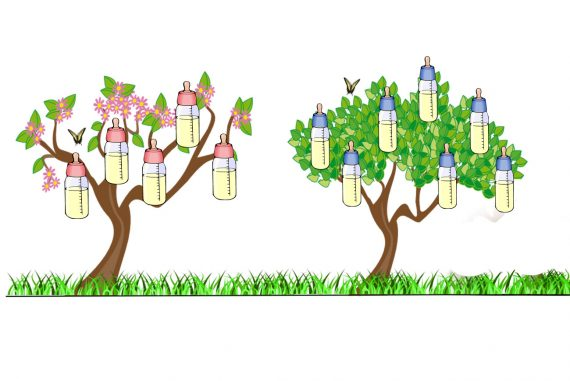 Illustration for kids poem The Bottle Tree by Eugene Field