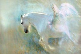 Illustration for kids poem The Flyaway Horse by Eugene Field