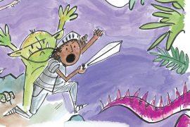 Knight Times short stories for kids dragon sword illustration
