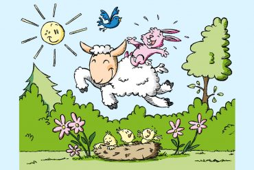 Mary Had A Little Lamb poems for kids illustration