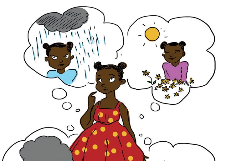 My Inside Weather short stories for kids header illustration on feelings