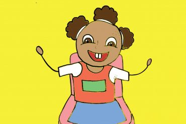 Palesa Can Walk stories for toddlers header illustration