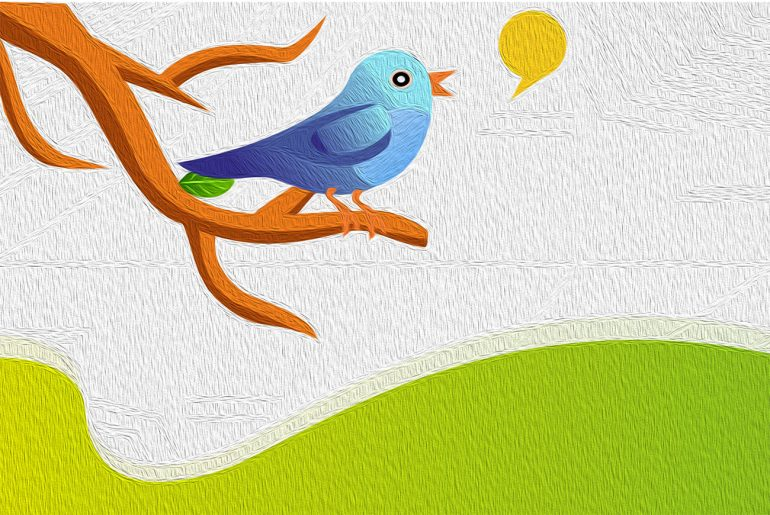 Poems for kids Bird Song by Laura Elizabeth Richards illustration