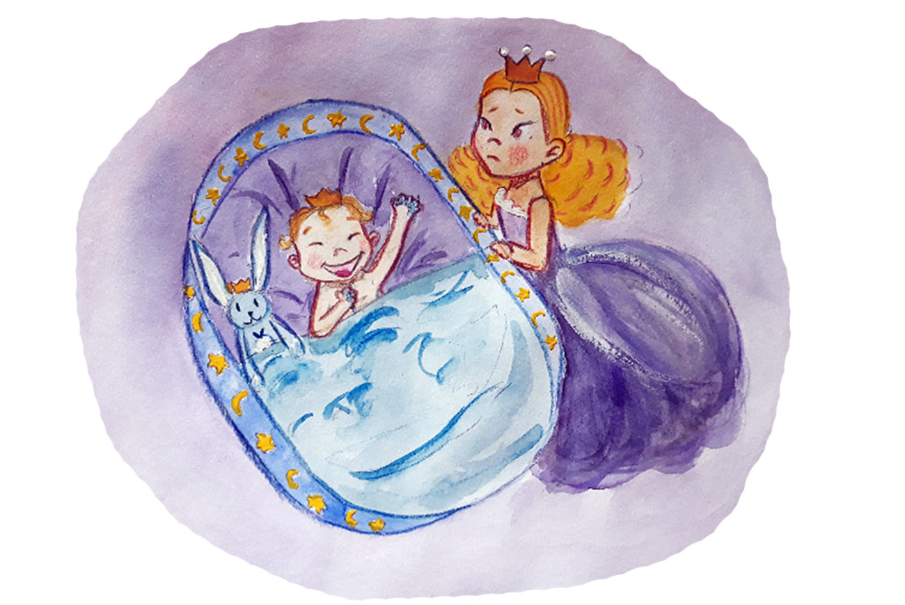 Princess stories for kids Baby Brother Surprise illustration 17