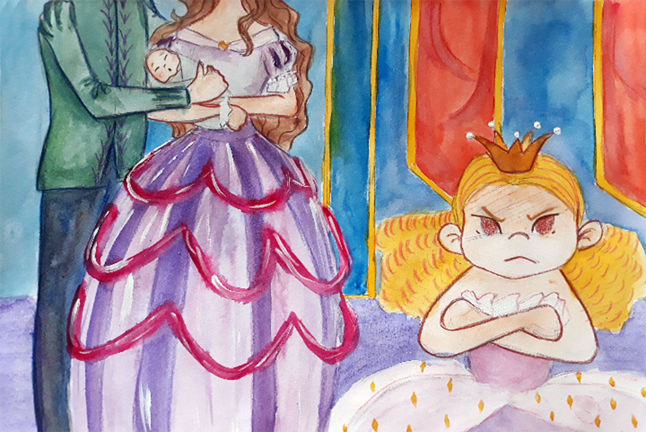 Princess stories for kids Baby Brother Surprise illustration 4