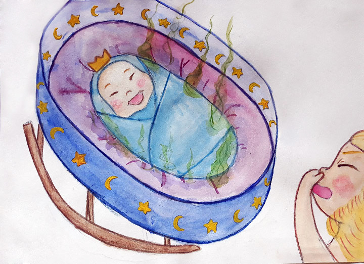Princess stories for kids Baby Brother Surprise illustration 5