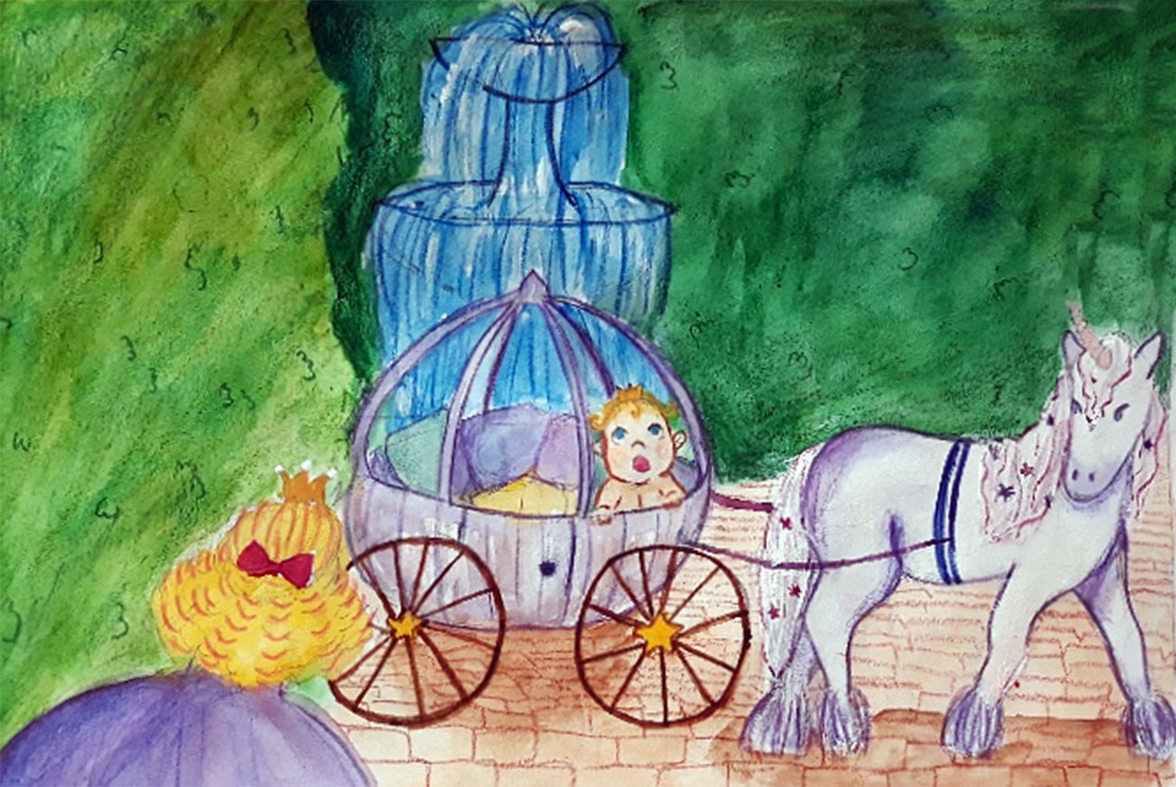 Princess stories for kids Baby Brother Surprise illustration 7