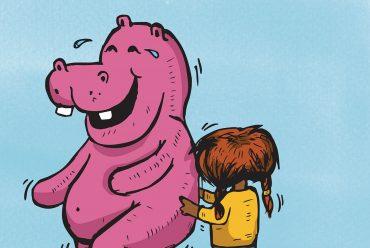 Short stories for kids Thats a Hippopotamus illustration