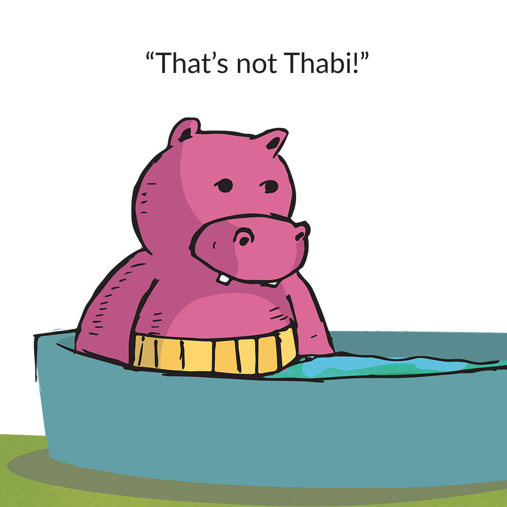 Short stories for kids Thats not Thabi that's a Hippopotamus page 13