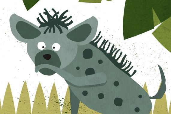 The Lost Laugh short stories for kids hyena illustration