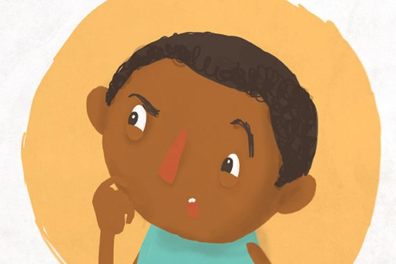 Why Is There A Hole In The Wall short stories for kids header illustration