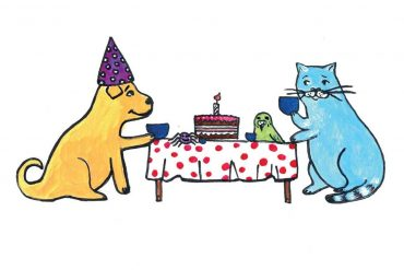Children's early reader free kids stories Jimmy the Cat and Bobiks Birthday header