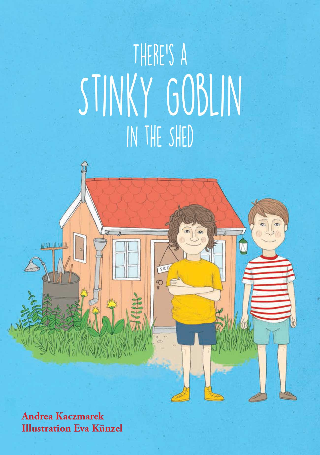 Middle grade fiction Theres a Stinky Goblin in the Shed cover