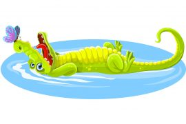 Poems for kids Lewis Carroll The Crocodile illustration