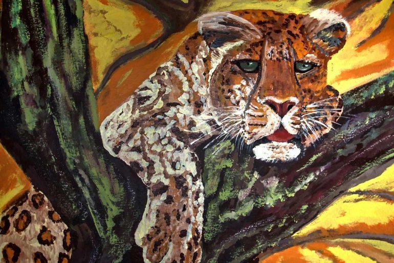 Short story for kids on peace - 100 White Doves illustration of leopard