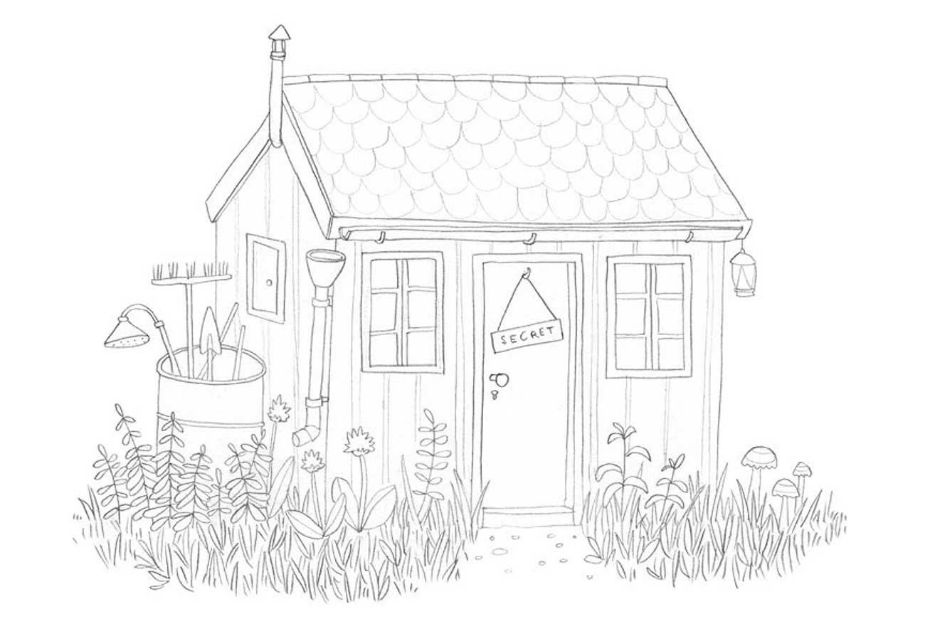 Stinky Goblin middle grade fiction chapter 1 illustration shed