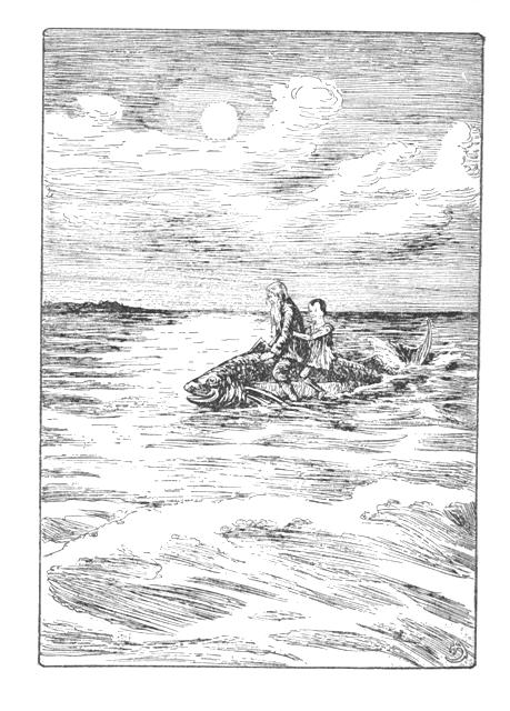 Pinocchio original story book illustration ch34 tunny fish