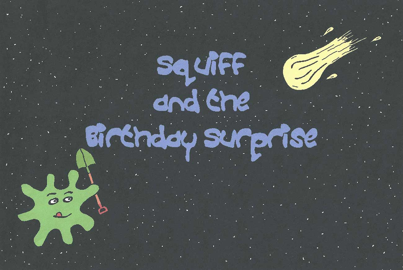 Squiff and the Bday Surprise short story for kids title page