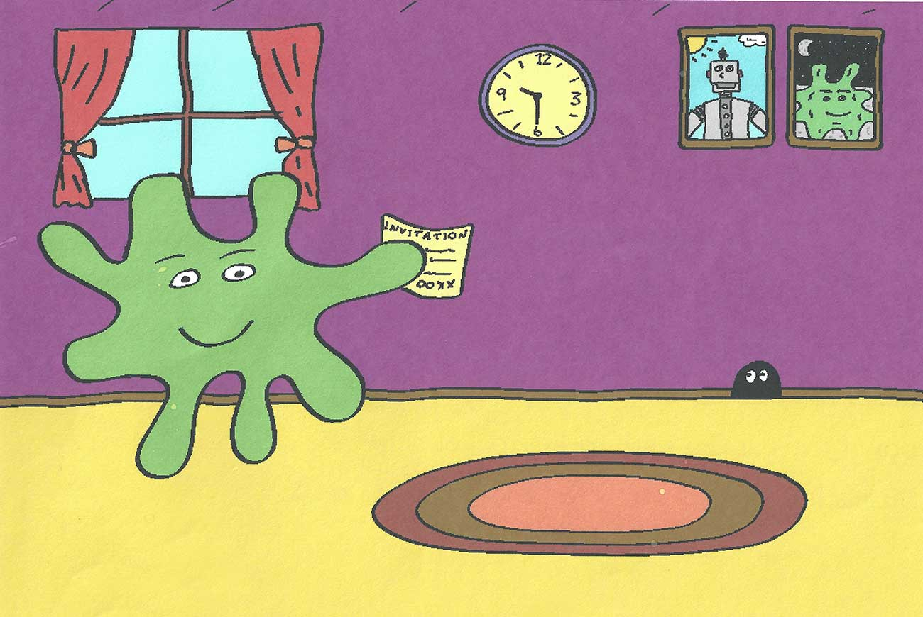 Squiff and the Bday Surprise short story for kids page 1