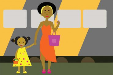 Short Bedtime Stories for Kids Who Takes The Train header illustration