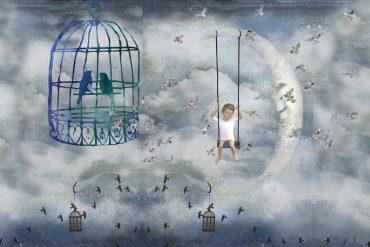 Fairy Tales Jorinda and Jorindel illustration birds
