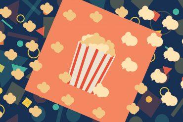 Funny poems for kids illustration Flying Popcorn