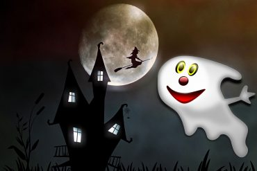 Halloween poems for kids illustration Ghost With The Most