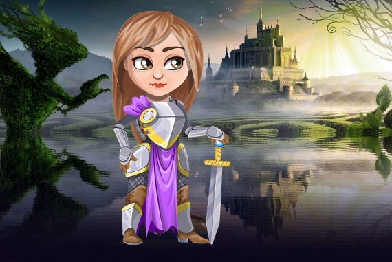 Funny poems for kids illustration for poem Princess Abby River of Tears