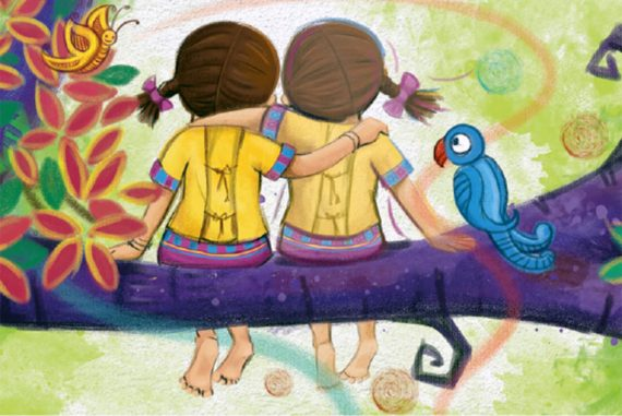 Bedtime stories My Best Friend short stories for kids cover illustration