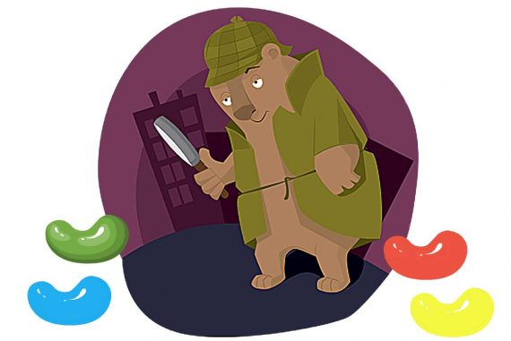 Poem for kids Sweet Detective illustration of bear